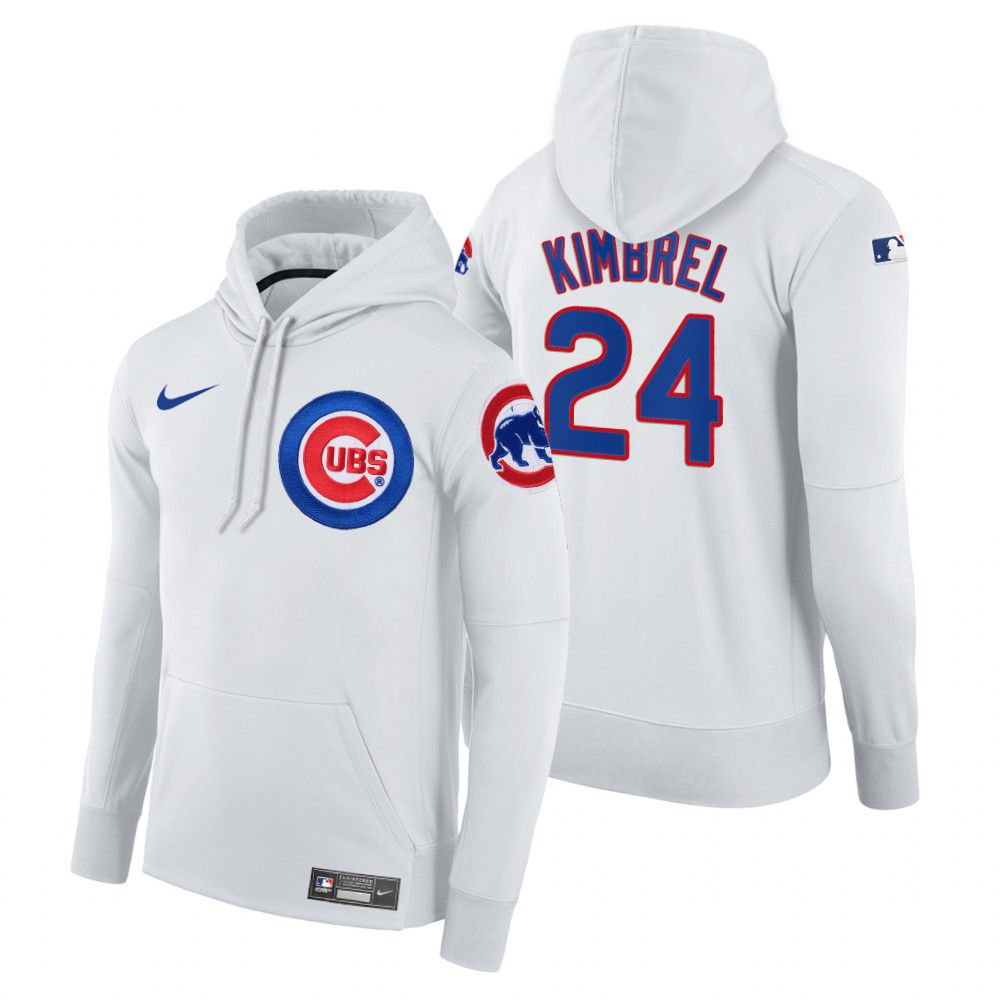 Wholesale Men Chicago Cubs 24 Kimbrel white home hoodie 2021 MLB Nike Jerseys