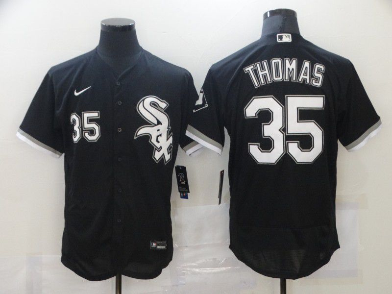 Cheap Men Chicago White Sox 35 Thomas Black Elite Nike MLB Jerseys