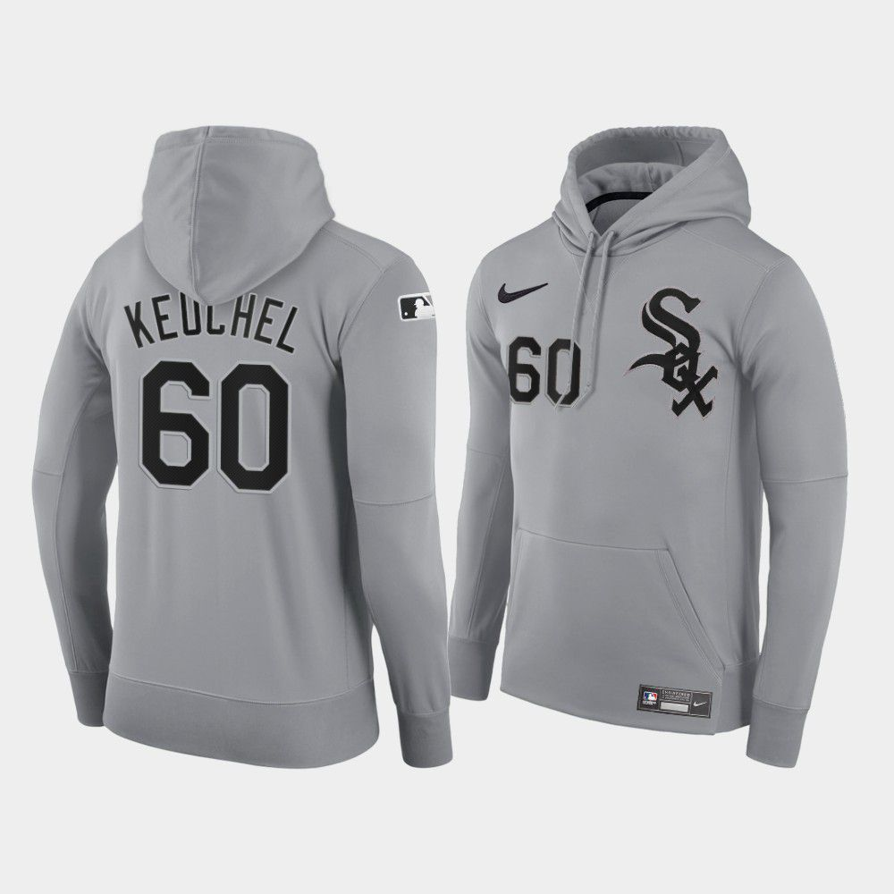Cheap Men Chicago White Sox 60 Keuchel gray road hoodie 2021 MLB Nike Jerseys