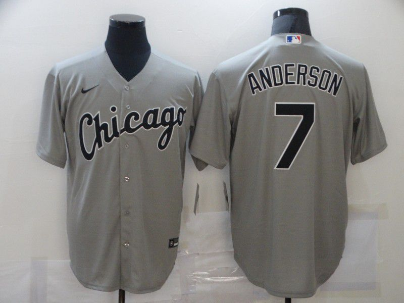 Cheap Men Chicago White Sox 7 Anderson Grey Game Nike MLB Jerseys