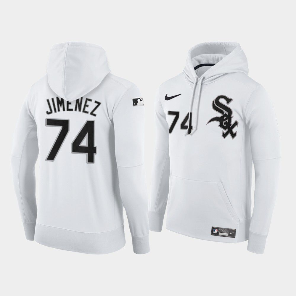 Cheap Men Chicago White Sox 74 Jimenez white home hoodie 2021 MLB Nike Jerseys