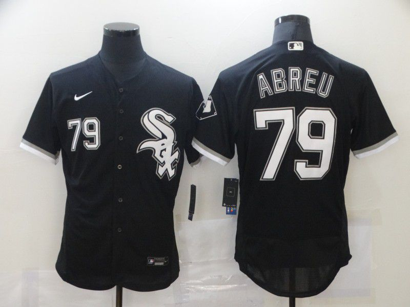 Cheap Men Chicago White Sox 79 Abreu Black Elite Nike MLB Jerseys