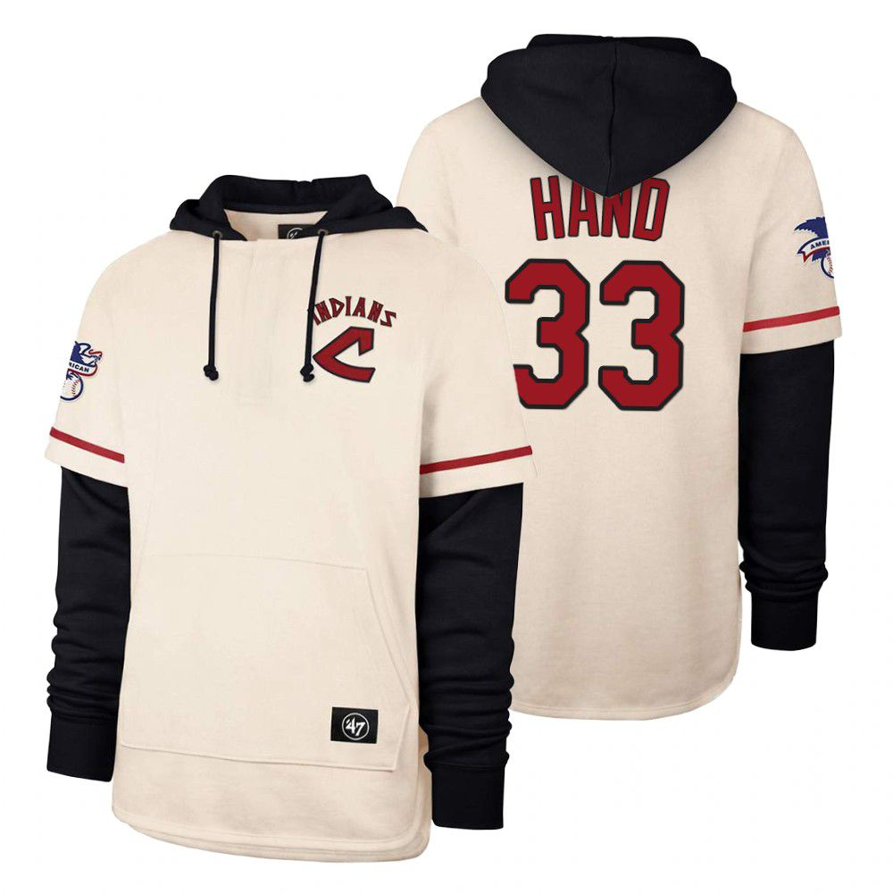 Cheap Men Cleveland Indians 33 Hand Cream 2021 Pullover Hoodie MLB Jersey