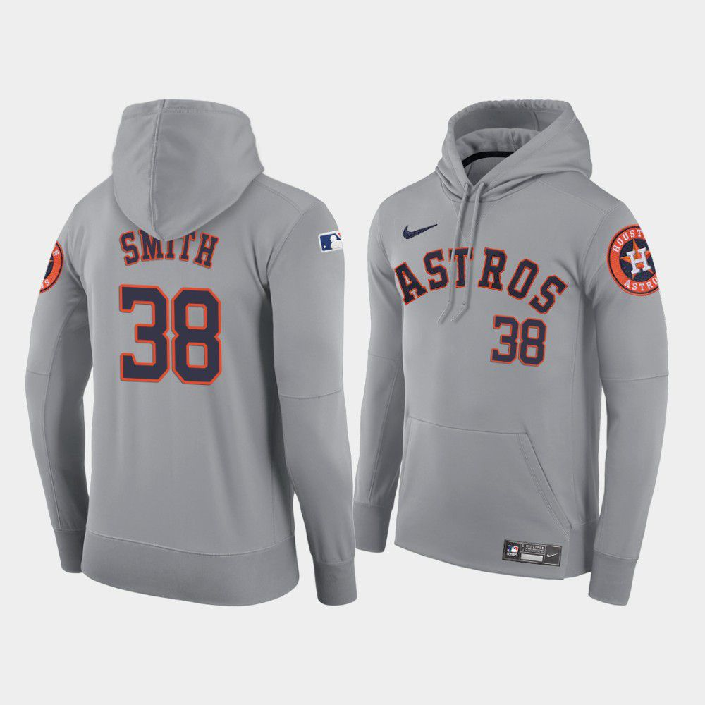 Cheap Men Houston Astros 38 Smith gray home hoodie 2021 MLB Nike Jerseys
