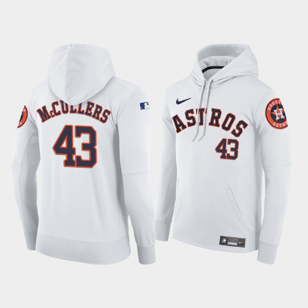 Cheap Men Houston Astros 43 Mccullers white home hoodie 2021 MLB Nike Jerseys