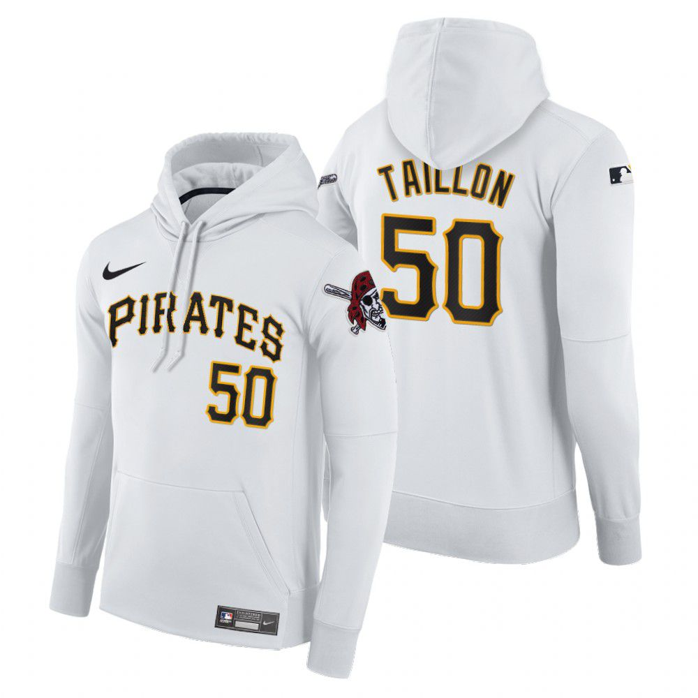 Cheap Men Pittsburgh Pirates 50 Taillon white home hoodie 2021 MLB Nike Jerseys