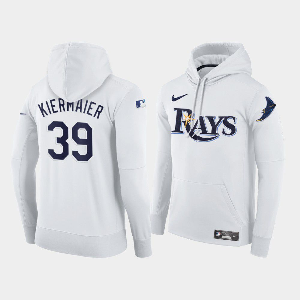 Cheap Men Tampa Bay Rays 39 Kiermaier white home hoodie 2021 MLB Nike Jerseys