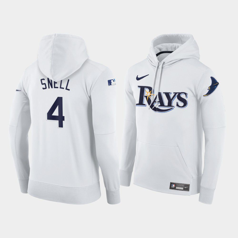 Cheap Men Tampa Bay Rays 4 Snell white home hoodie 2021 MLB Nike Jerseys