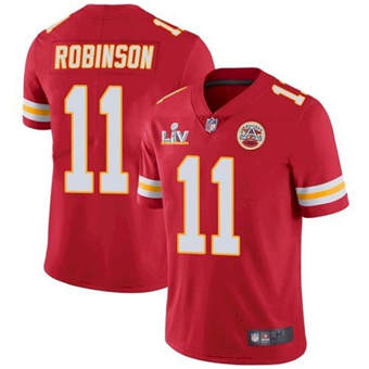 Wholesale Super Bowl LV 2021 Men Kansas City Chiefs 11 Demarcus Robinson Red Limited Jersey