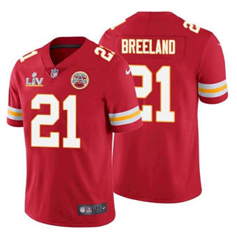 Wholesale Super Bowl LV 2021 Men Kansas City Chiefs 21 Bashaud Breeland Red Limited Jersey