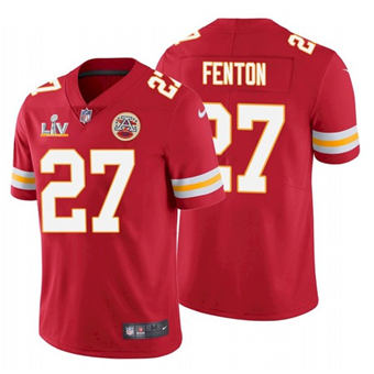Wholesale Super Bowl LV 2021 Men Kansas City Chiefs 27 Rashad Fenton Red Limited Jersey