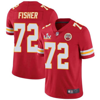 Wholesale Super Bowl LV 2021 Men Kansas City Chiefs 72 Eric Fisher Red Limited Jersey