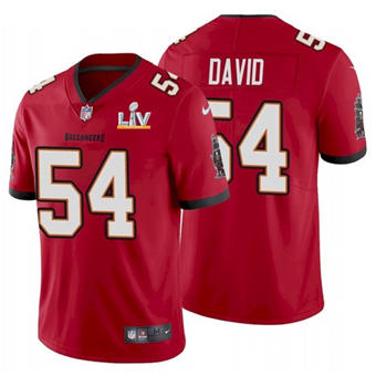 Wholesale Super Bowl LV 2021 Men Tampa Bay Buccaneers 54 Lavonte David Red Limited Jersey