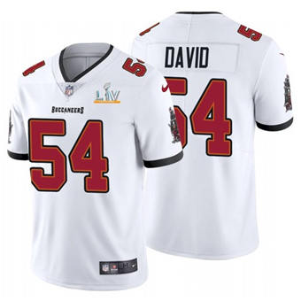 Wholesale Super Bowl LV 2021 Men Tampa Bay Buccaneers 54 Lavonte David White Limited Jersey