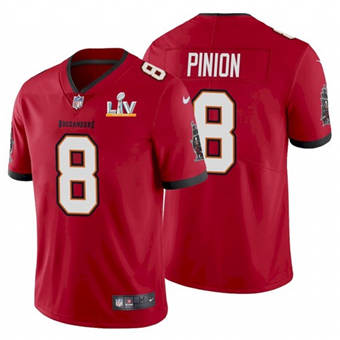 Wholesale Super Bowl LV 2021 Men Tampa Bay Buccaneers 8 Bradley Pinion Red Limited Jersey