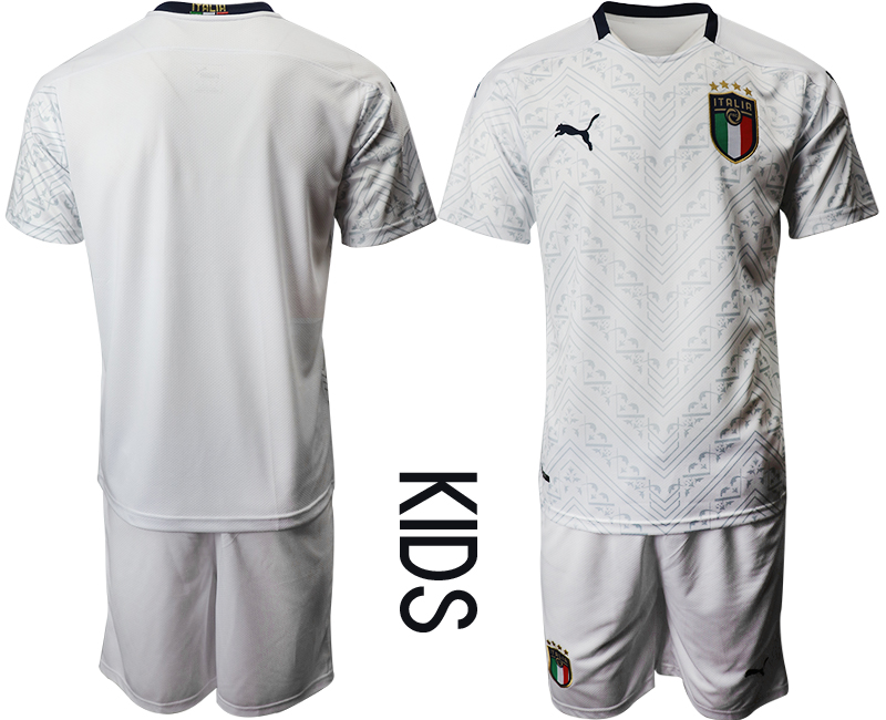 Wholesale Youth 2021 European Cup Italy away white Soccer Jersey