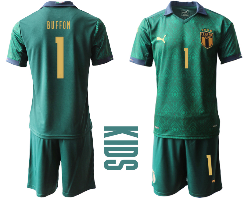 Wholesale Youth 2021 European Cup Italy second away green 1 Soccer Jersey