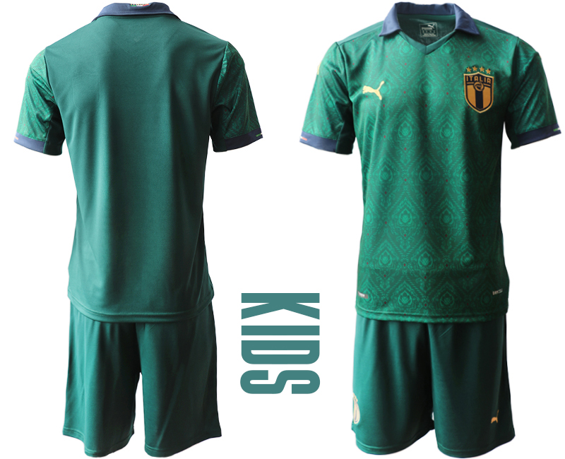 Wholesale Youth 2021 European Cup Italy second away green Soccer Jersey