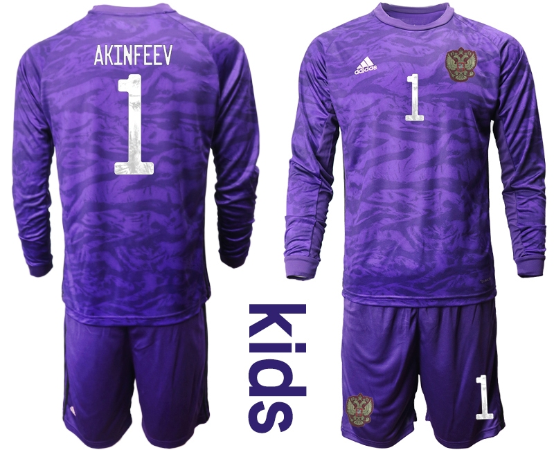 Cheap Youth 2021 European Cup Russia purple Long sleeve goalkeeper 1 Soccer Jersey1