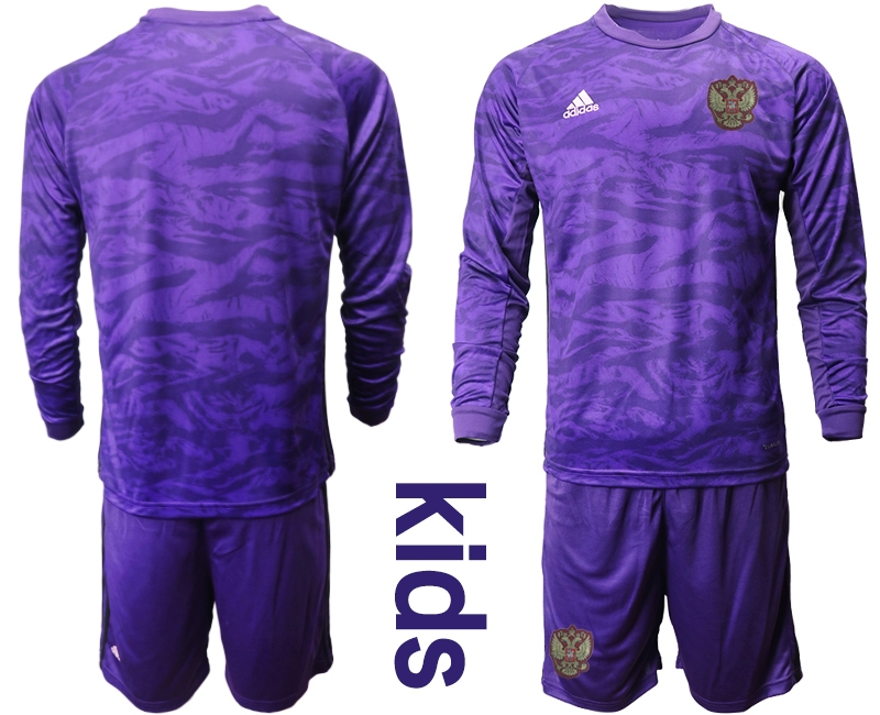 Cheap Youth 2021 European Cup Russia purple Long sleeve goalkeeper Soccer Jersey1