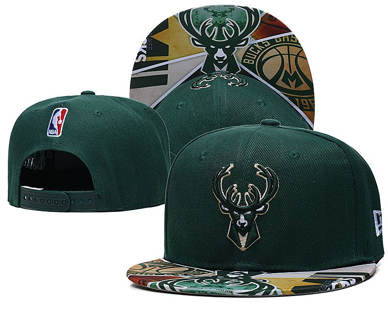 Cheap 2021 NBA Milwaukee Bucks Hat TX427