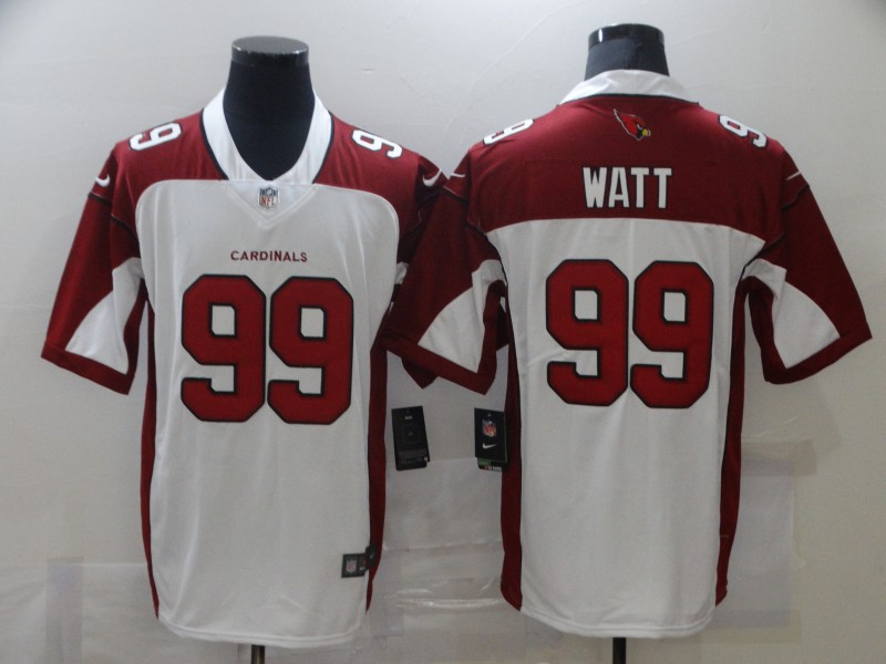 Wholesale Men Arizona Cardinals 99 Watt White Nike Vapor Untouchable Limited NFL Jerseys