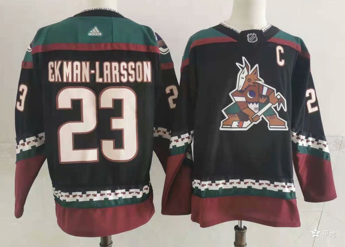 Wholesale Men Arizona Coyotes 23 Ekman-larsson Black Authentic Stitched 2021 Adidias NHL Jersey