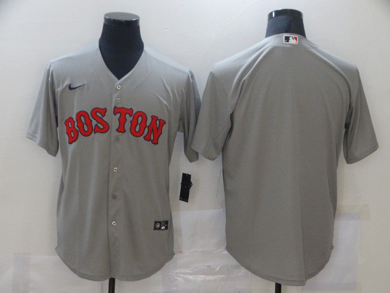 Cheap Men Boston Red Sox Blank Grey Game Nike MLB Jerseys