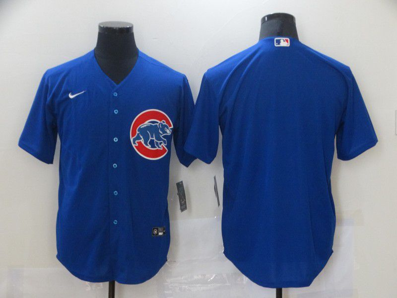 Wholesale Men Chicago Cubs Blank Blue Game Nike MLB Jerseys