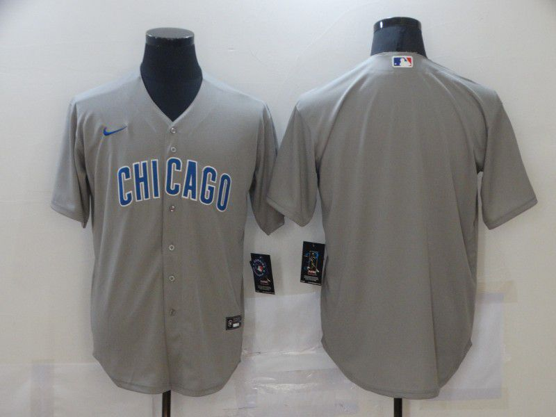 Wholesale Men Chicago Cubs Blank Grey Game Nike MLB Jerseys