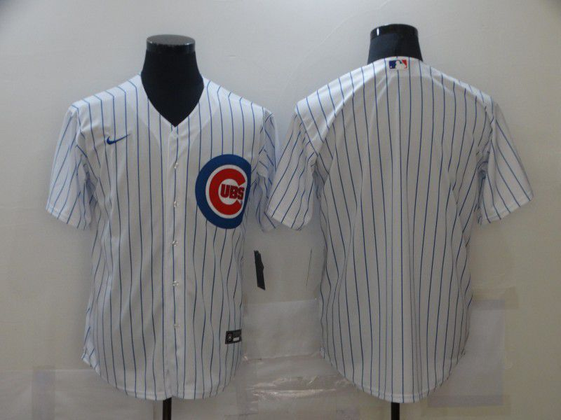 Wholesale Men Chicago Cubs Blank White Game Nike MLB Jerseys