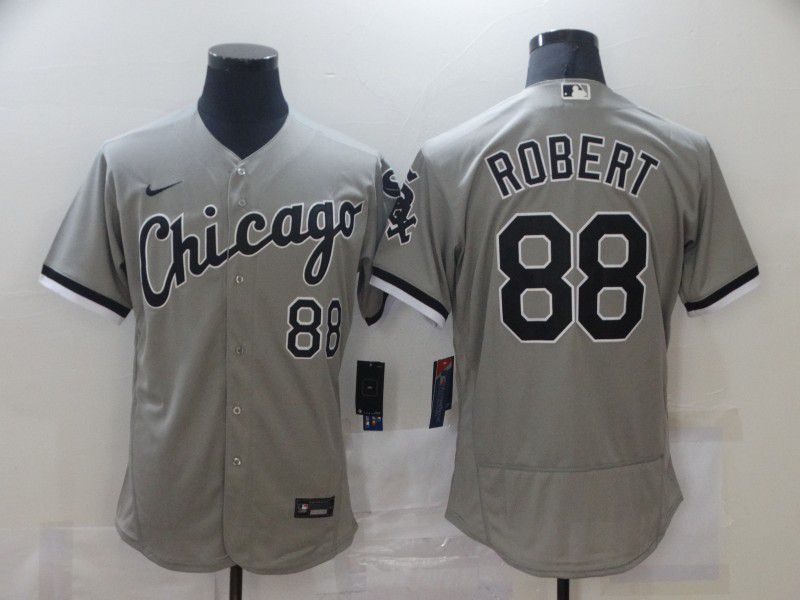 Cheap Men Chicago White Sox 88 Robert Grey Elite Nike MLB Jerseys