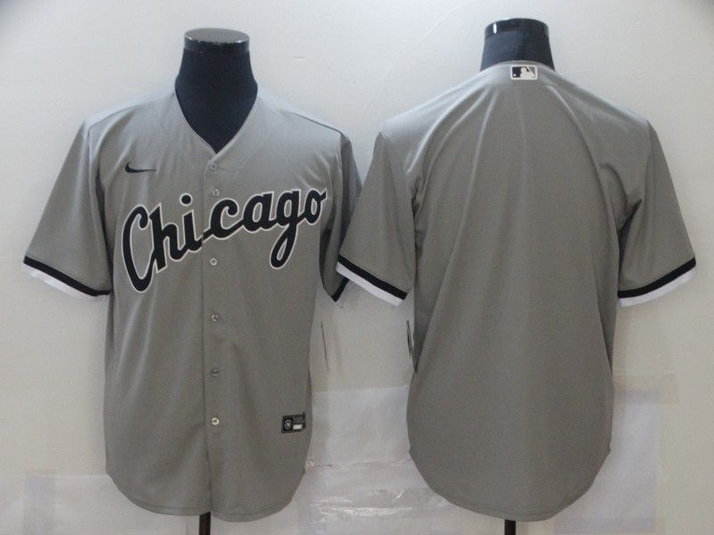 Cheap Men Chicago White Sox Blank Grey Game Nike MLB Jerseys