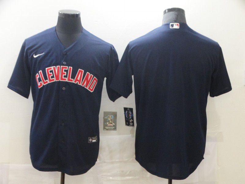 Cheap Men Cleveland Indians Blank Blue Game Nike MLB Jerseys