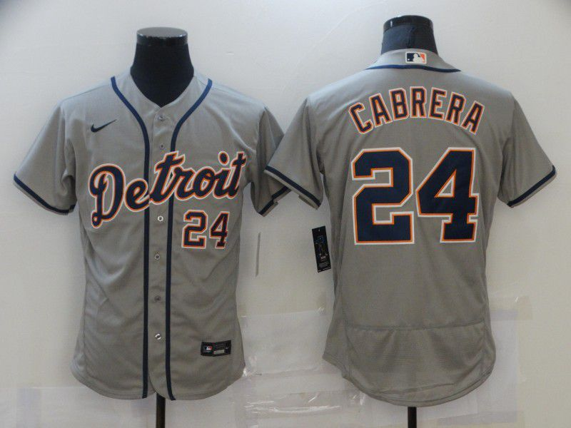 Cheap Men Detroit Tigers 24 Cabrera Grey Elite 2021 Nike MLB Jersey
