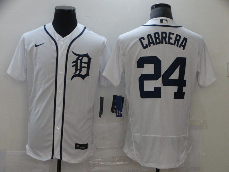 Cheap Men Detroit Tigers 24 Cabrera White Elite Nike MLB Jerseys