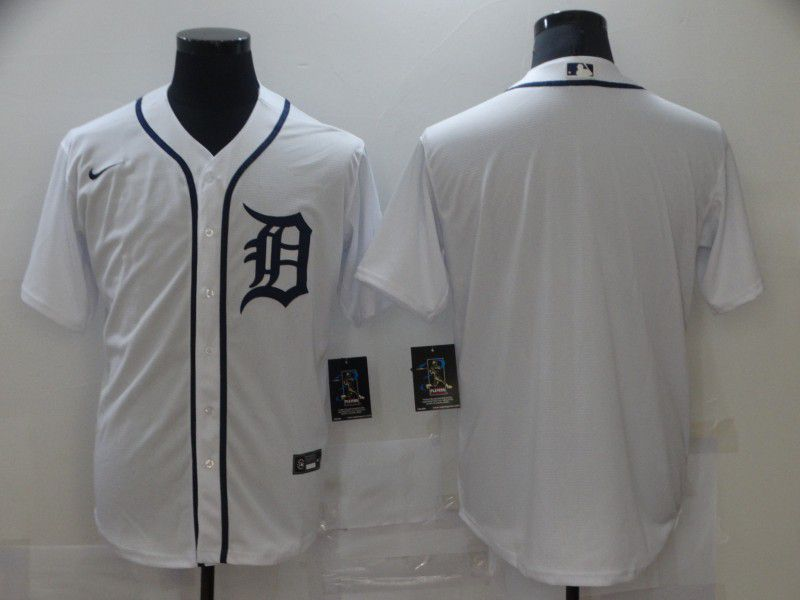 Cheap Men Detroit Tigers Blank White Game Nike MLB Jerseys
