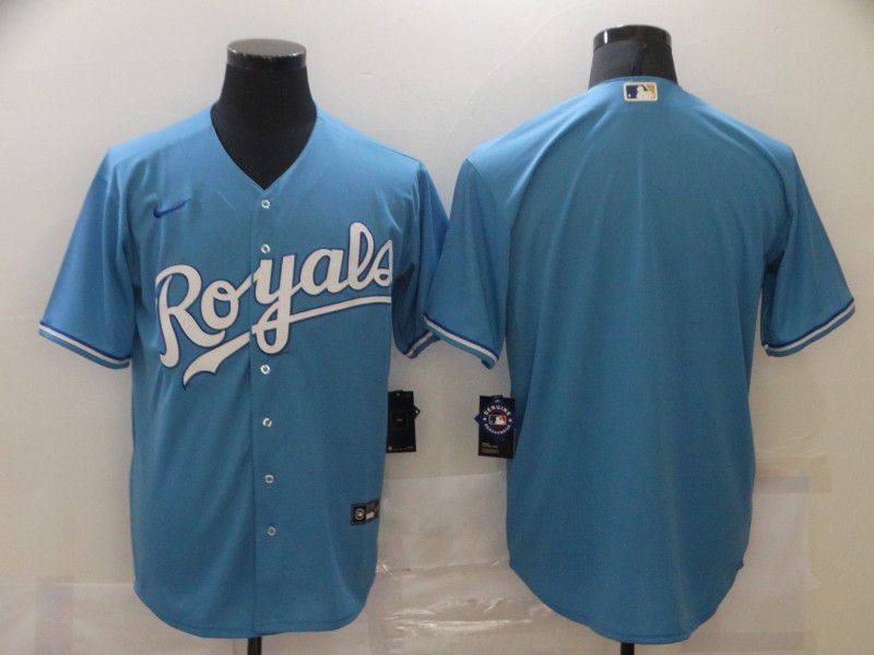 Wholesale Men Kansas City Royals Blank Light Blue Game Nike MLB Jerseys