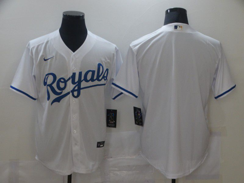 Wholesale Men Kansas City Royals Blank White Game Nike MLB Jerseys