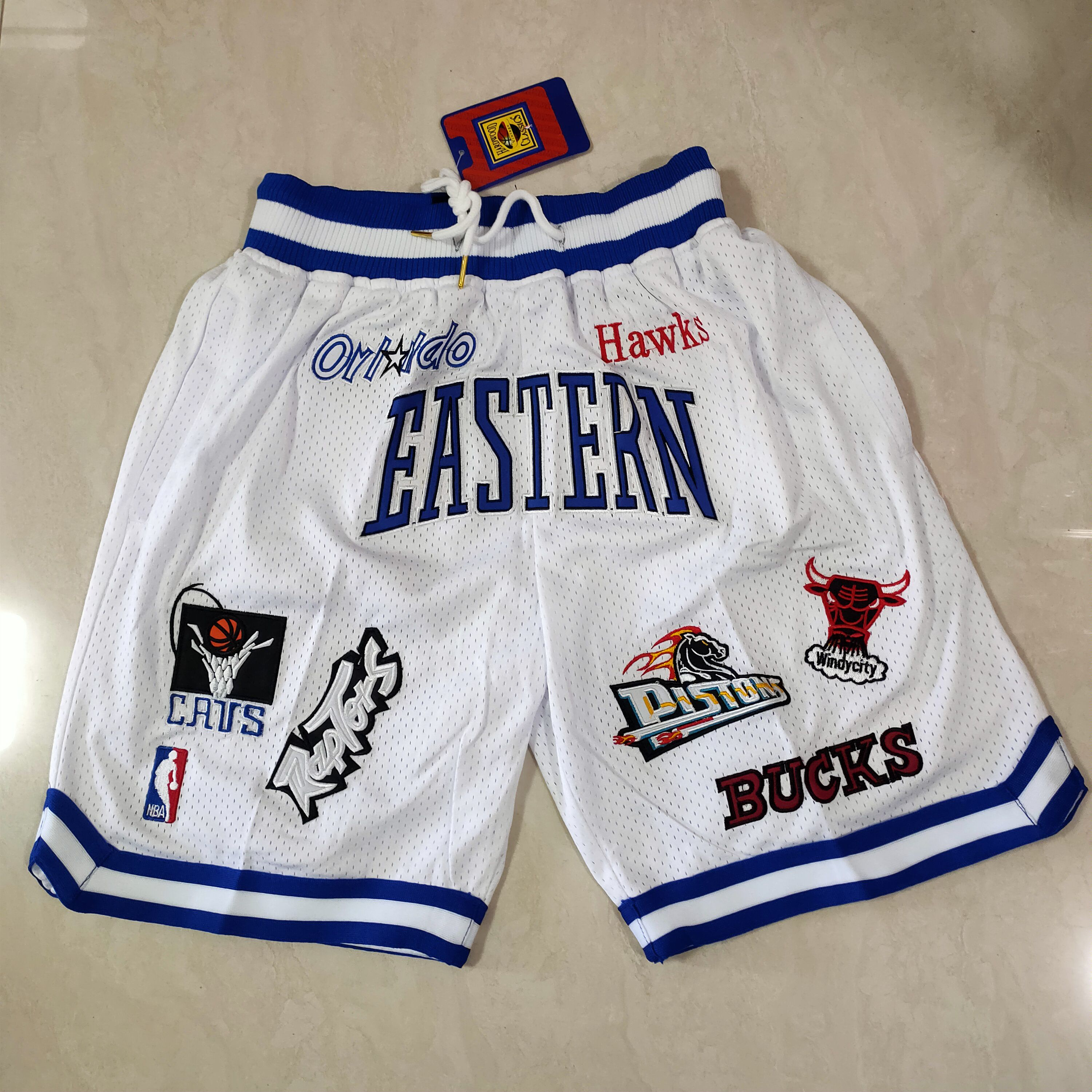 Cheap Men NBA 2021 All star White Shorts