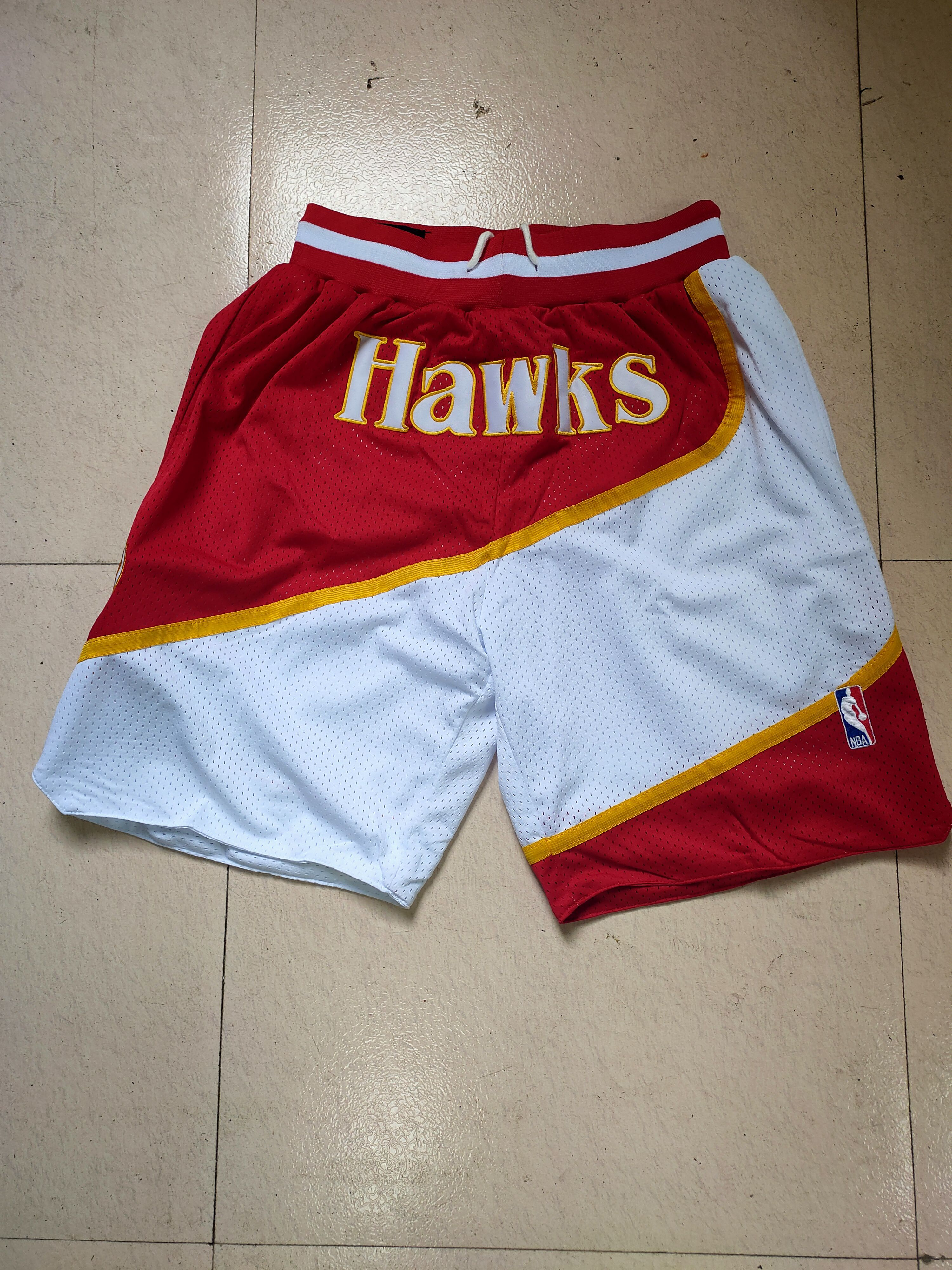 Cheap Men NBA 2021 Atlanta Hawks Red Shorts