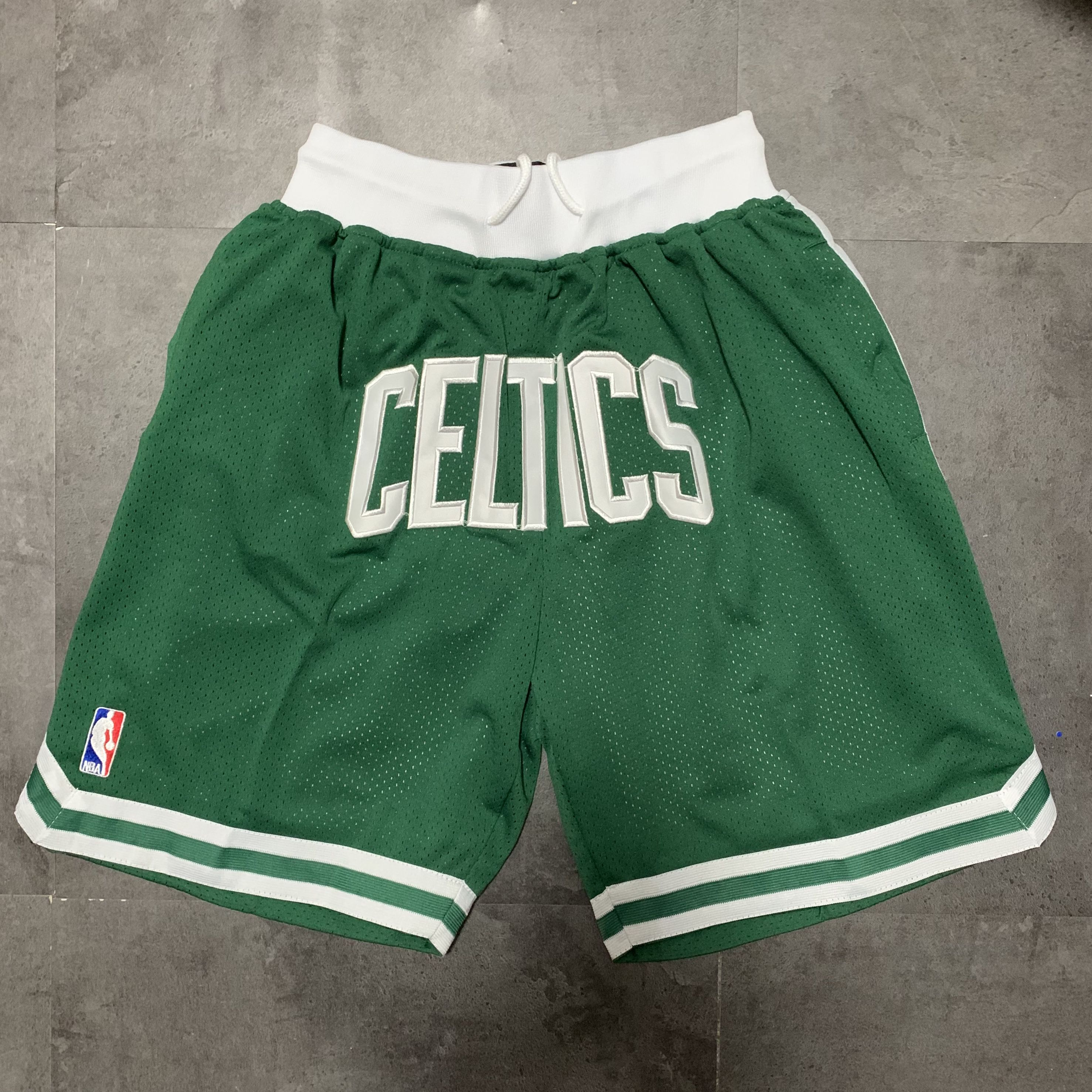 Cheap Men NBA 2021 Boston Celtics Green Shorts 1