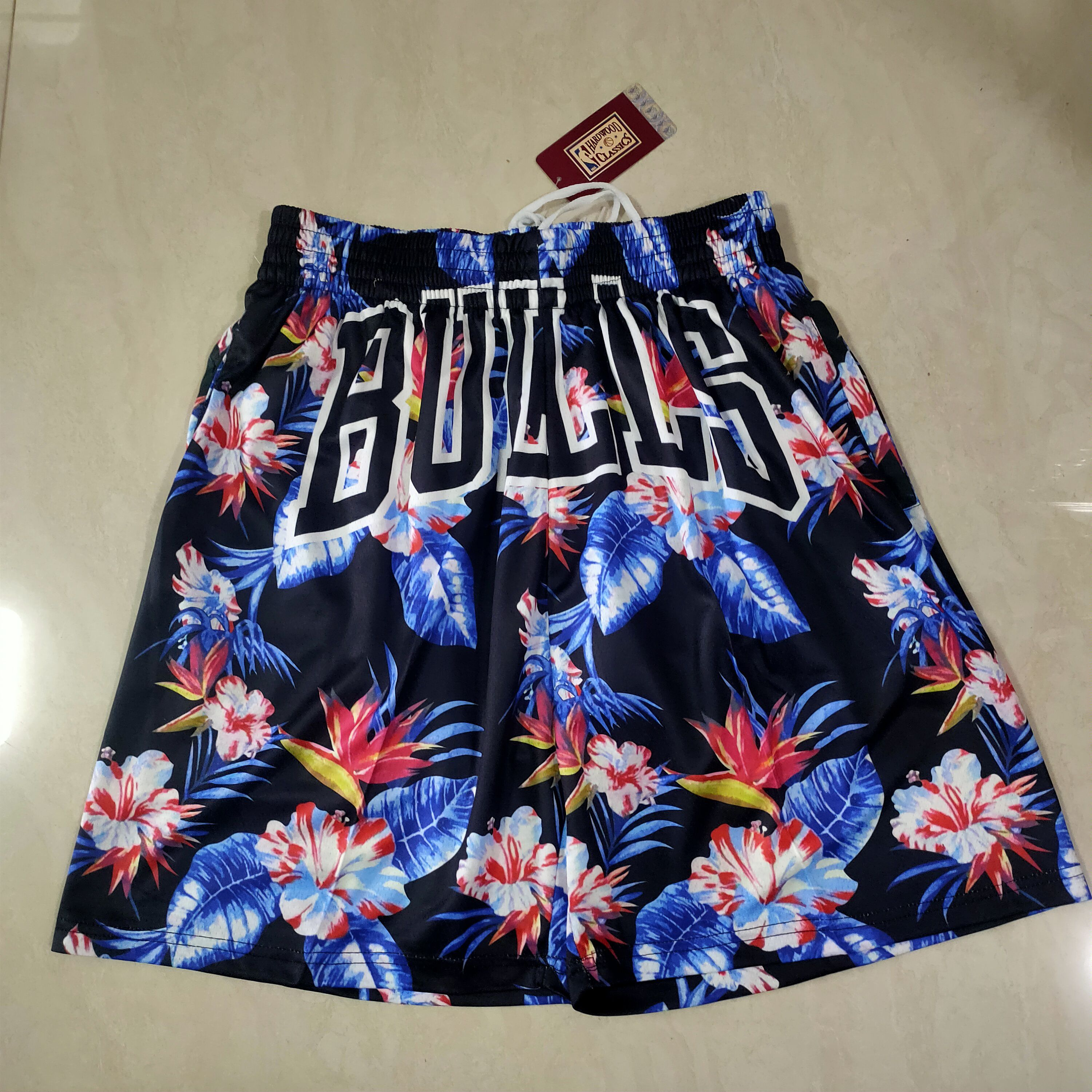 Cheap Men NBA 2021 Chicago Bulls Flower Edition Shorts