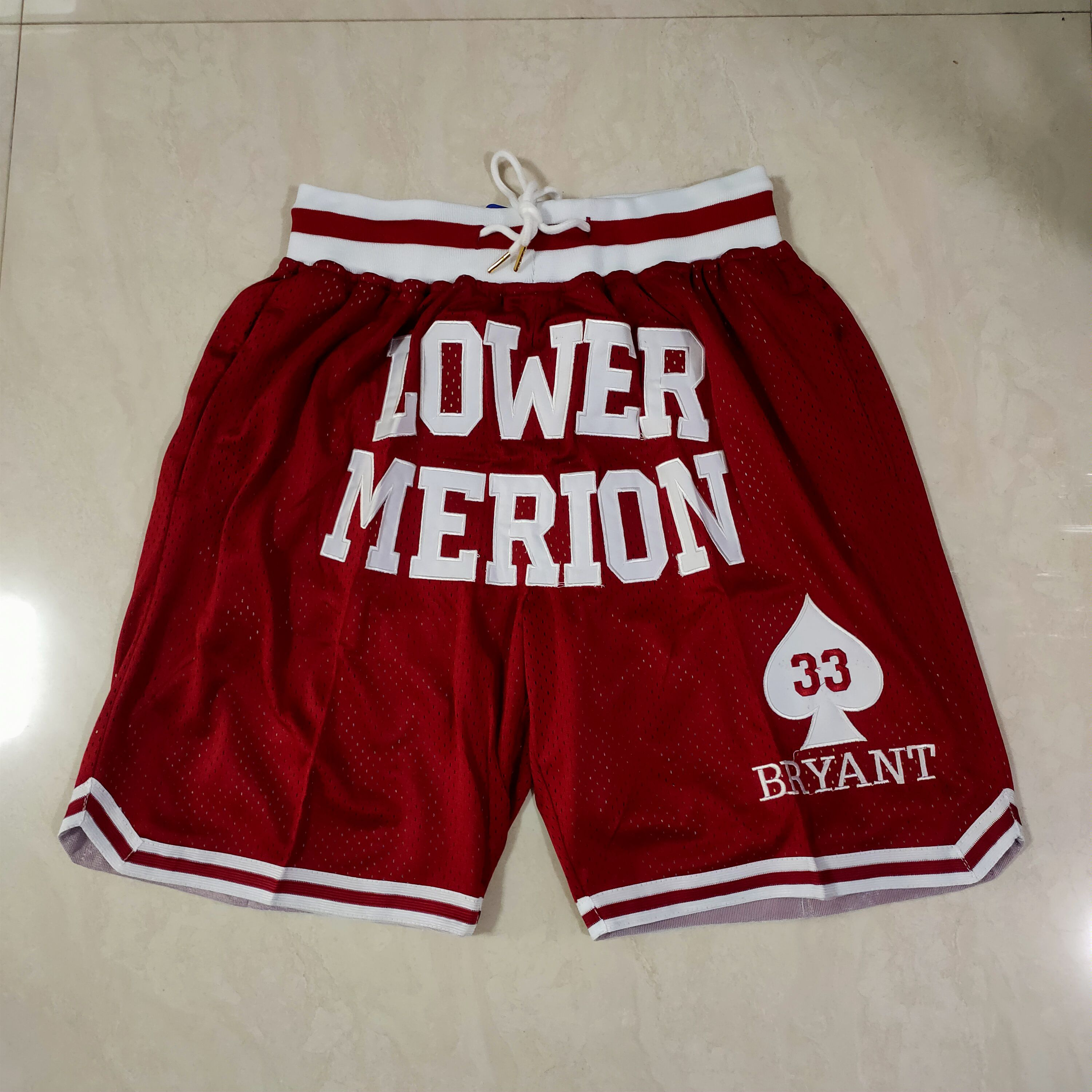 Cheap Men NBA 2021 Kobe high school Red Shorts