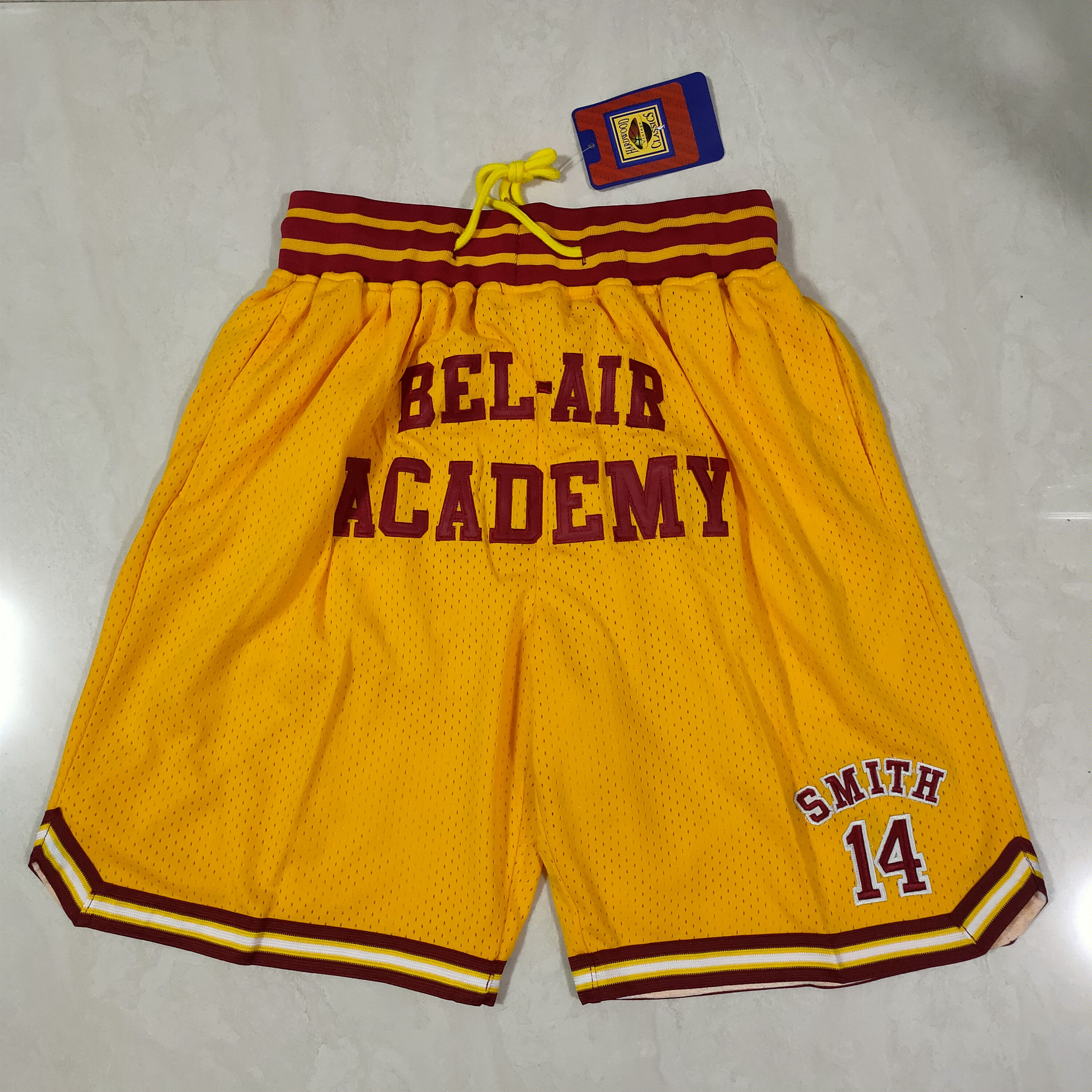 Cheap Men NBA 2021 Kobe high school Yellow Shorts
