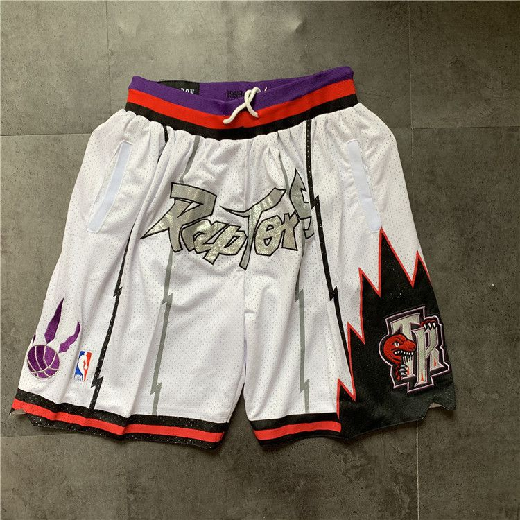 Cheap Men NBA 2021 Toronto Raptors White Shorts 1