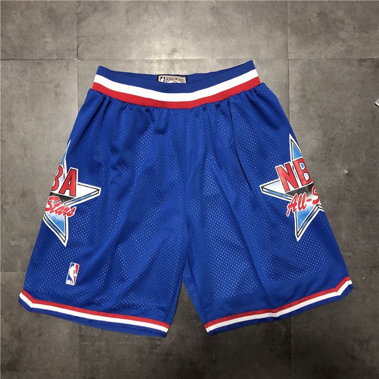 Cheap Men NBA 92 all star Blue Shorts 0416