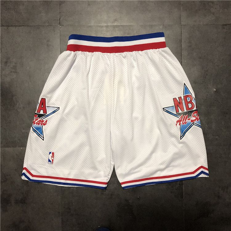 Cheap Men NBA 92 all star White Shorts 0416