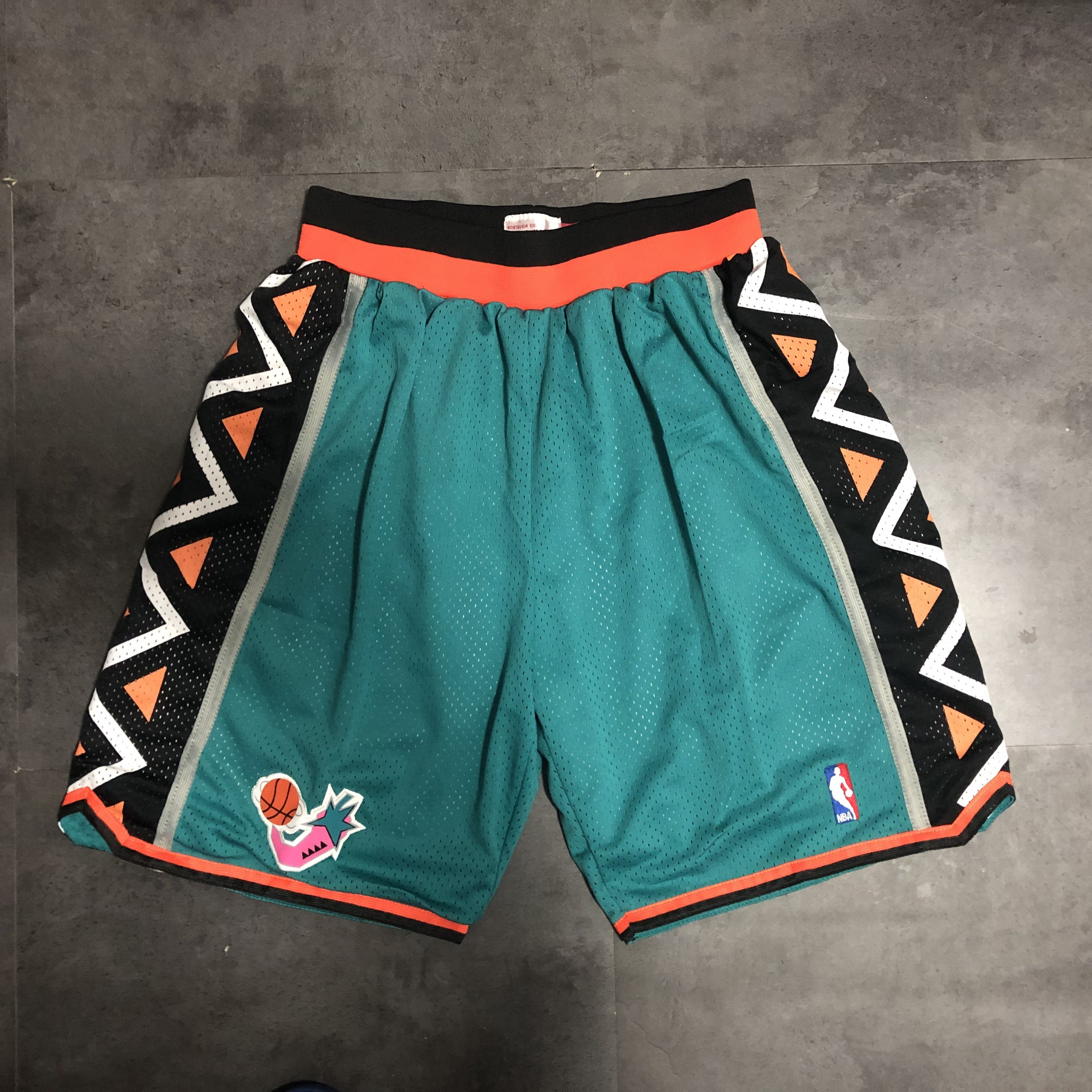 Cheap Men NBA 95 all star Green Shorts 0416