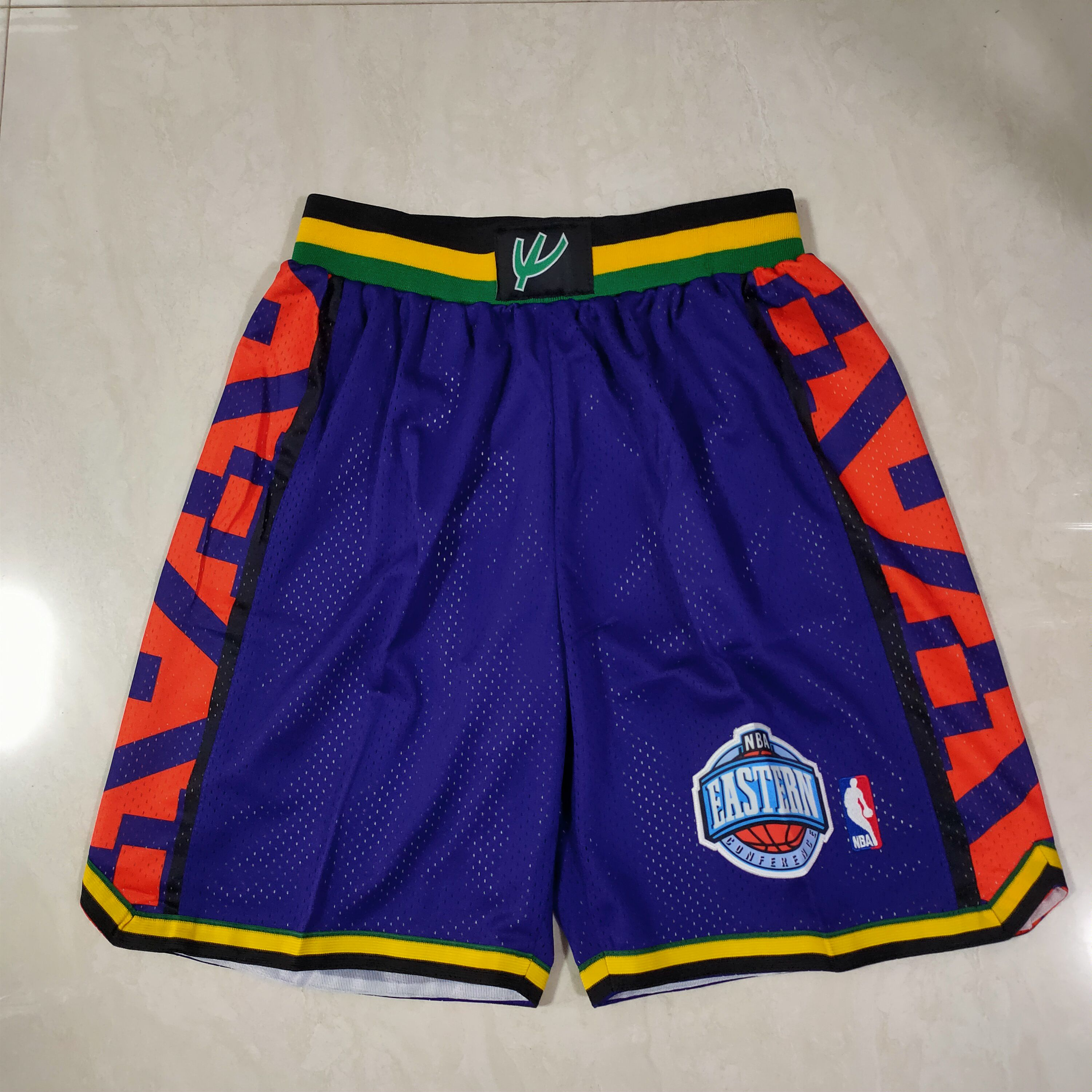 Cheap Men NBA 95 all star Purple Shorts 0416